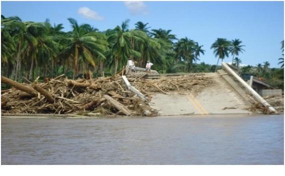 Baogo Bridge in Baganga that collapsed